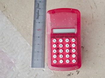 電池切れのクリップ型電卓