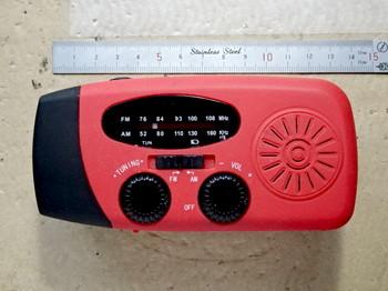 修理を終えた防災ラジオ