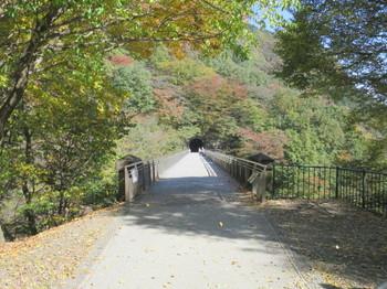 碓井第三橋梁の上