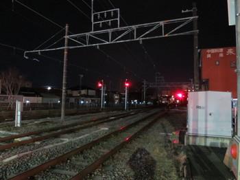 JR飯田線・伊那北駅近くの夜景色