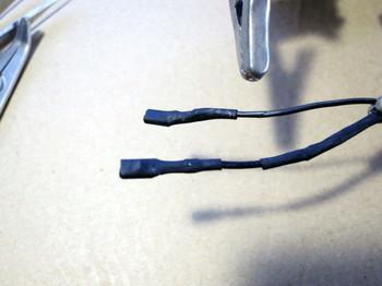 熱収縮チューブで金具を保護する