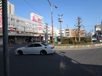 江南駅のロータリー