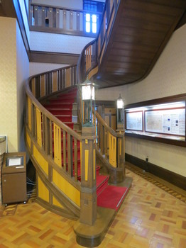 文化のみち二葉館 名古屋市旧川上貞奴邸の螺旋階段