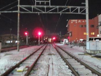 飯田線の線路は白い
