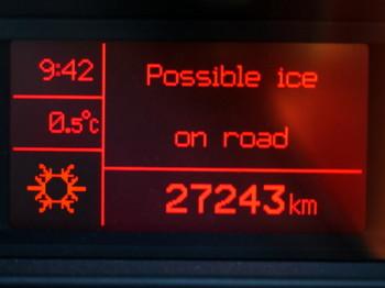 気温はマイナス1度