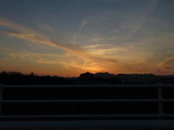 国道306から見る夕日