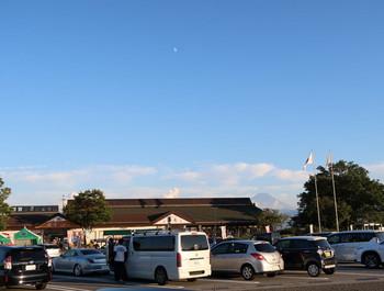 双葉SAで月を見上げる
