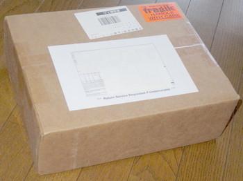 米国から届いた箱
