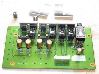 ヘッドフォン出力部の基板