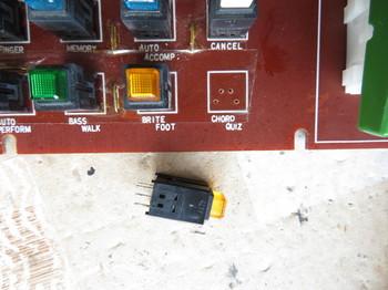 LEDが点灯しないプッシュスイッチ