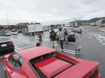 梓川SAに集まった参加車両