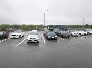 梓川SAに到着した参加車両