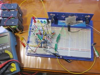試作ボード上に作った簡易ESRメータ