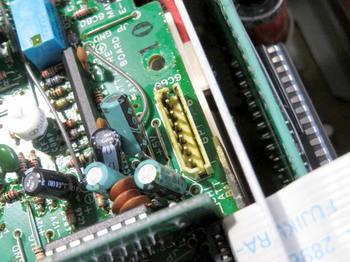 基板の受け側も電解液まみれ