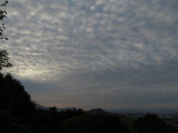 雲に覆われている