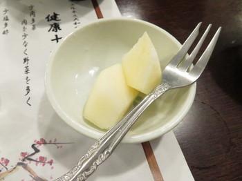 デザートのリンゴ