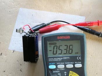 電池が入っているのに電圧はゼロ