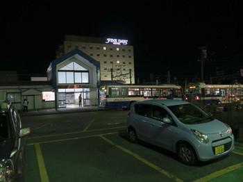 JR伊那北駅の夜