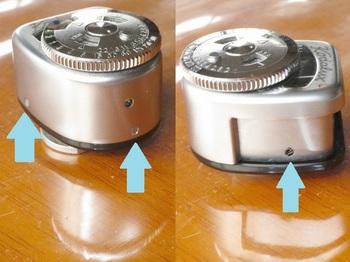 Kodaluxのケースを固定しているネジは三箇所