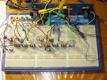 LM386革命アンプを仮組する